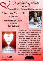 author night flyer for Melody Baskin