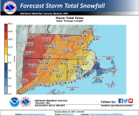 Snowfall map (National Weather Service)
