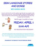 baby kneads sign & song flyer