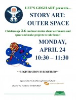 story art van gogh outer space flyer