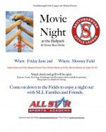 Movie Night & Home Run Derby flyer