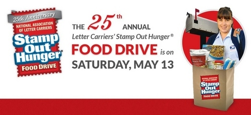 Post image for Help the 25th annual 'Stamp out Hunger' on Saturday, May 13