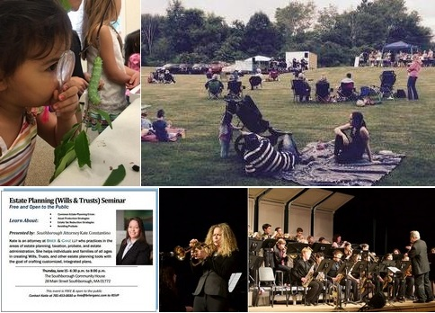 Post image for A very busy Thursday: Caterpillar Lab, Summer Concert, Estate Planning, and Trottier Big Band