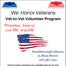 Thumbnail image for Vet-to-Vet Volunteer Program – June 22nd as part of Library's series honoring veterans (Updated)