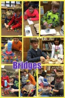 STEM Beginnings website includes pic collages from past classes. This one focuses on Engineering Different Bridges