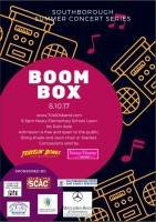 Boombox concert poster