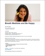 Breathe Meditate and Be Happy flyer