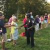 Officer Richardson thanks peaceful participants