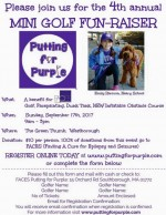 4th annual putting for purple flyer