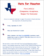 Finn CARES - Hats for Houston flyer
