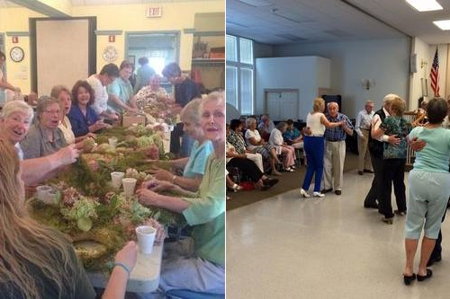 Post image for October fun through the Senior Center: Hydrangea Wreaths, Musical Cafe, and a spooky brunch