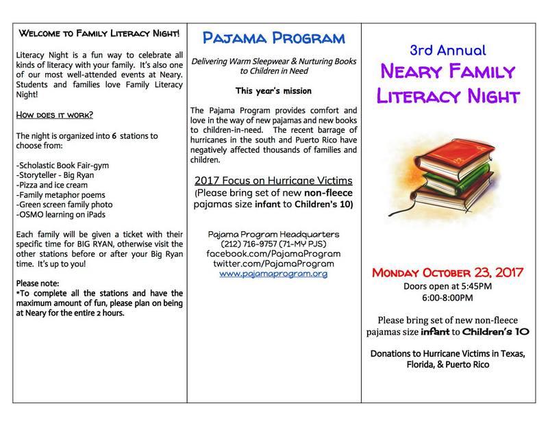 Neary Family Literacy Night - October 23