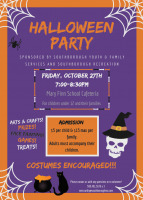 SYFS Halloween Party 2017 flyer