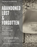 abandoned, lost & forgotten art exhibit poster