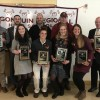 L-R, B-F: Bobby & Michael Cooley, Joe Berube, Chet Leonard, Liz Holmes, Carly O'Connell, Sarah Dahlstrom, Caitlyn Baker-Gildart, and Bill Griffin. (Also inducted - Brian Cooke not pictured)