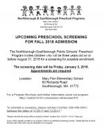 Finn preschool screening 2017 flyer