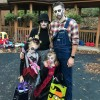 The Taylor family went full out zombie!