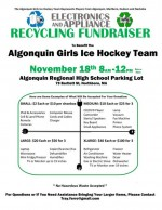 arhs girls ice hockey electronic recycling fundraiser flyer