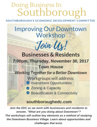 EDC improving downtown business workshop invite