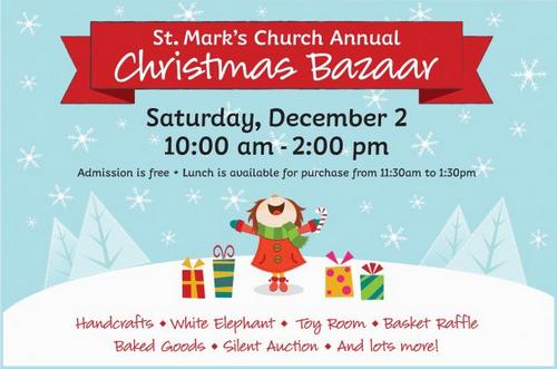 Post image for St. Mark's Church's annual Christmas Bazaar – December 2