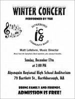 Interboro Winter Concert Flyer