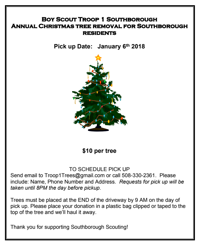 christmas tree pickup flyer - Boy Scout Christmas Trees