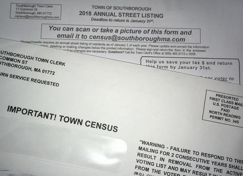 "Post image for Don't forget to return the Town Census (a.k.a. ""Annual Street Listing"")"