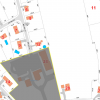 The small southeast corner of St. Anne's Parhish property (highlighted in pink) was sold to the abutting property owner in 2016