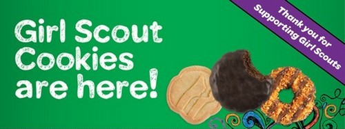 Post image for It's Girl Scout Cookie time! Buy some boxes this Saturday