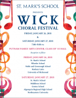 st mark's wick choral festival flyer