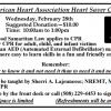 American Heart Association Heart Saver CPR