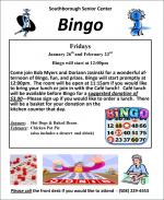 Senior Center Bingo flyer winter 2018