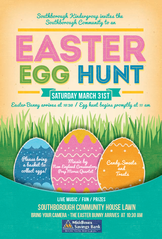 Save the Date: Easter Egg Hunt on March 31st – free to all