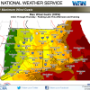 National Weather Service. wind gusts March 7-8 2018