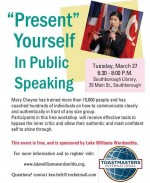 Toastmasters event flyer