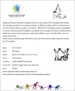 adaptive phys ed program flyer