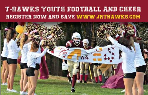 Post image for Jr. T-Hawks: Registration open for Football & Cheer, Info Night – April 4
