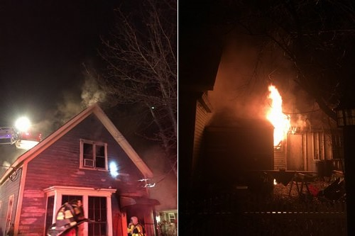 Post image for Heavy fire on Cottage St overnight; house may be a loss (Updated)