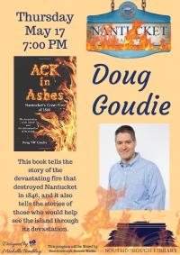 """Doug """"VB"""" Goudie author night flyer"""