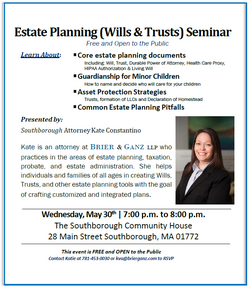 Estate Planning (Wills & Trusts) Seminar