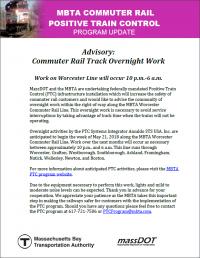 MBTA Commuter Rail PTC update