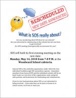 SOS info night flyer
