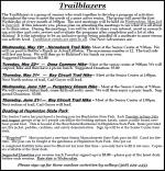 Trailblazers programs May - summer