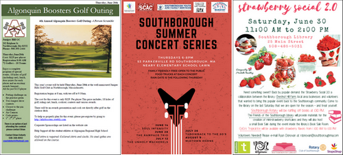 Post image for Events this week: Magic at Library, Boosters Golf Tournament, Summer Concert, Strawberry Social and more