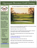 ARHS Boosters Golf Outing flyer