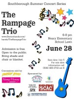 The Rampage Trio concert flyer