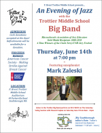 Trottier Evening of Jazz flyer