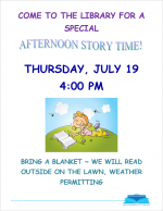 Afternoon story time flyer