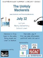 updated Unholy Mackrels concert flyer