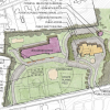 Shared driveway concept for Woodward, Golf Course and Public Safety Building (cropped from STM 2017 materials)